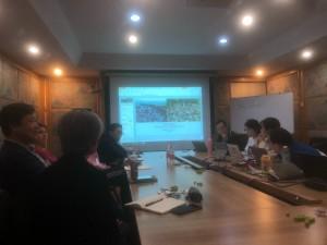 清華大学 都市計画研究室ゼミ風景